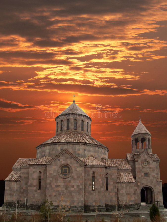 Igreja arménia. fotos de stock royalty free