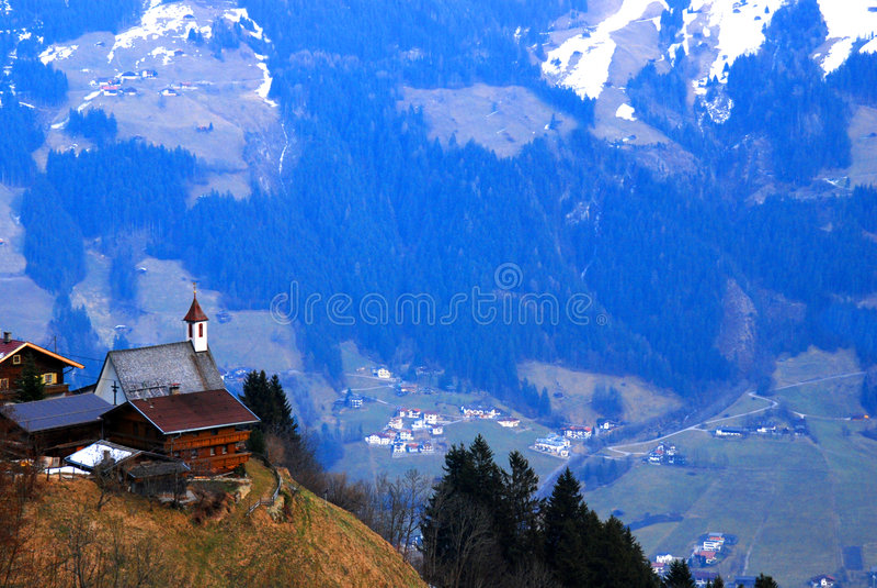 Igreja austríaca   foto de stock royalty free