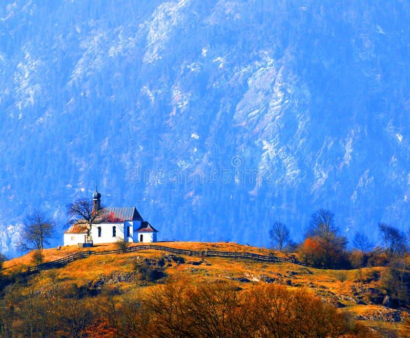 Igreja austríaca rural imagem de stock royalty free