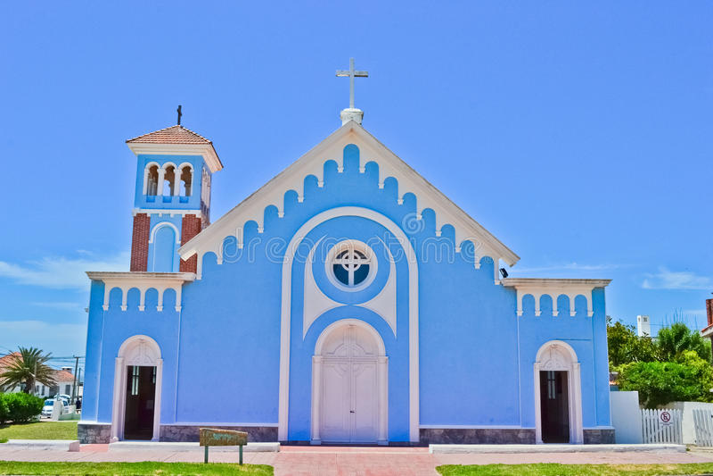 Igreja azul imagens de stock royalty free