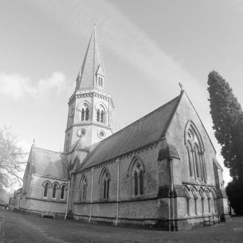 Igreja B&W imagem de stock royalty free