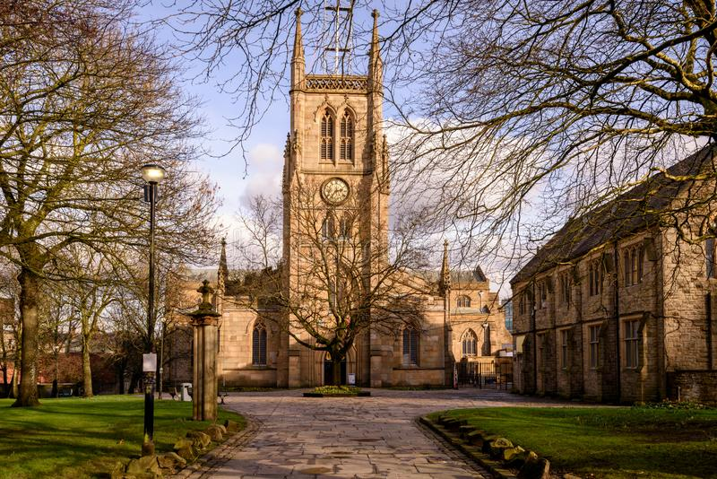 Igreja blackburn Lancashire da catedral fotos de stock
