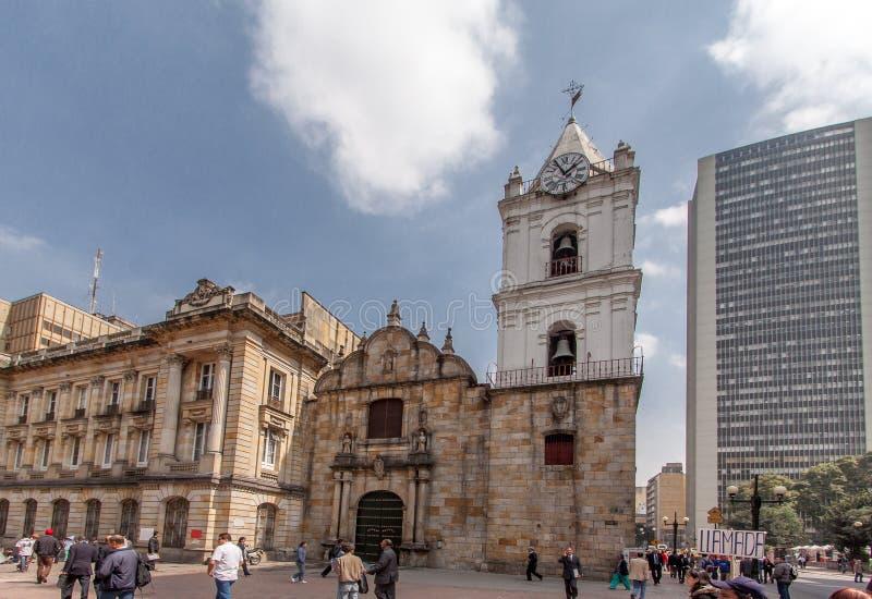 Igreja Bogotá Colômbia de San Francisco fotos de stock royalty free