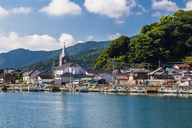 Igreja bonita de Sakitsu em Amakusa, Kyushu, Japão fotografia de stock royalty free