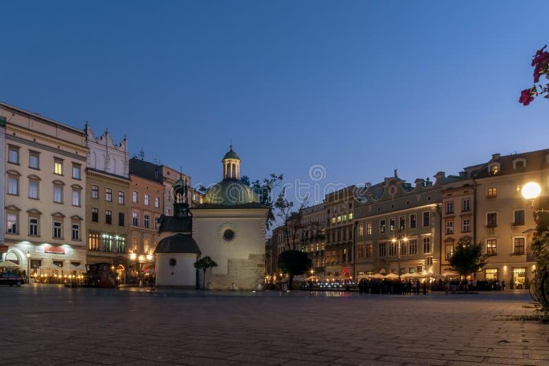 A igreja bonita de St Adalbert Krakow, Polônia foto de stock royalty free