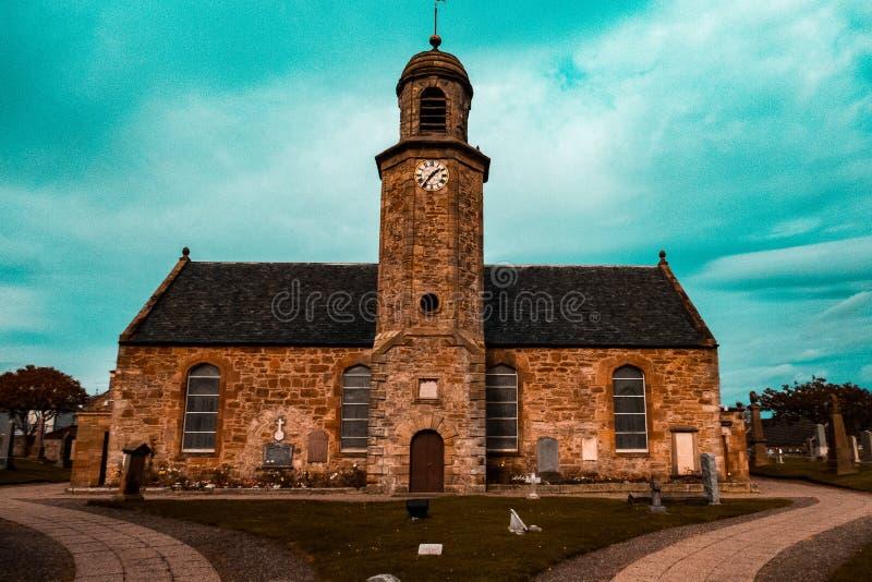 Igreja bonita em Escócia imagem de stock