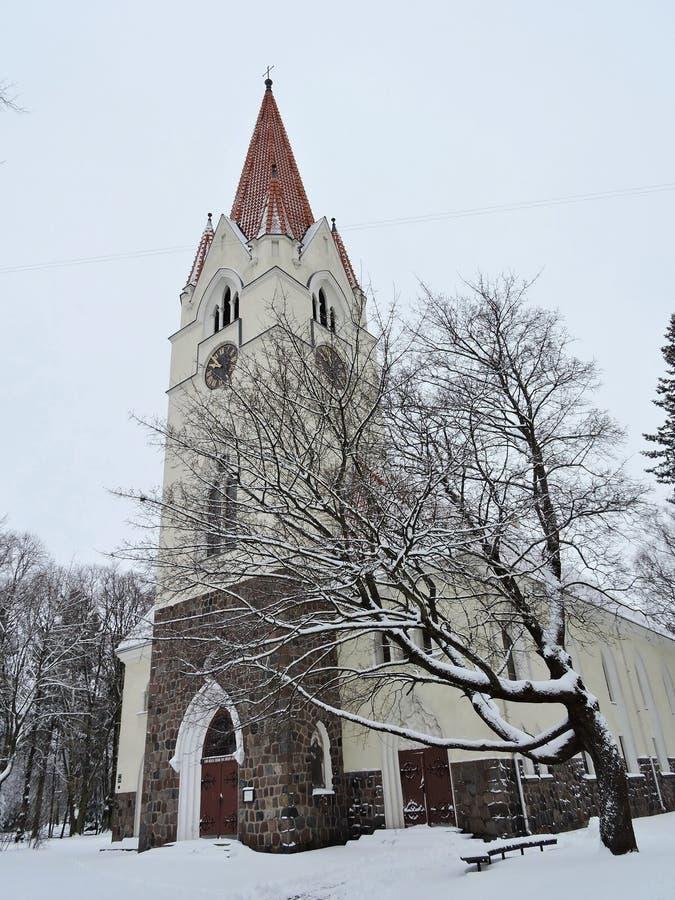 Igreja bonita, Lituânia fotografia de stock
