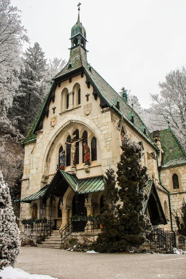 Igreja bonita no recurso de esqui Semmering, Áustria Luxor, Egipto fotos de stock
