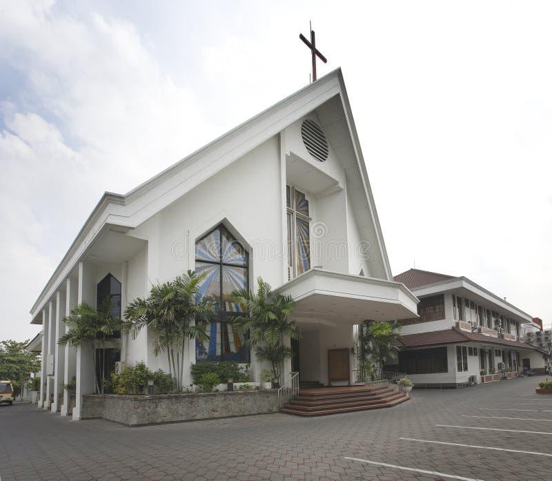 Igreja branca fotos de stock