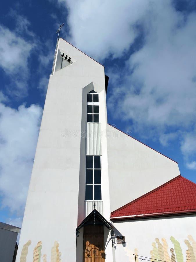 Igreja branca, Lituânia imagens de stock royalty free