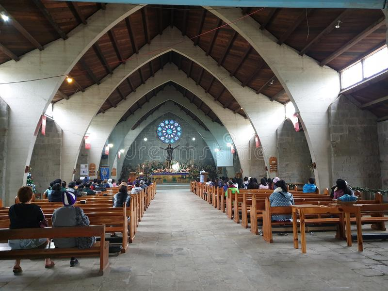 Igreja calma na província fotografia de stock royalty free