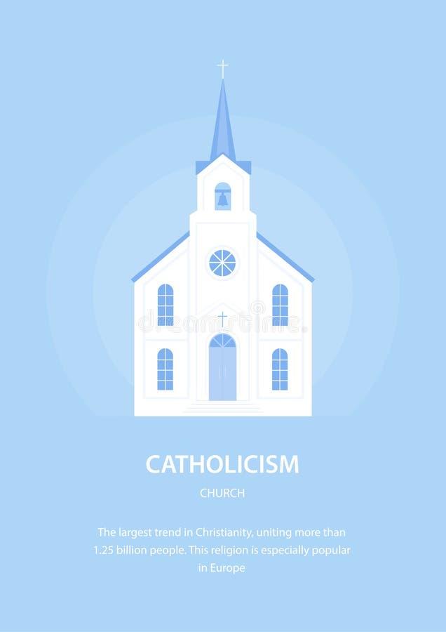 Igreja Católica christianity Religião e arquitetura de Europa Ilustração do vetor ilustração royalty free