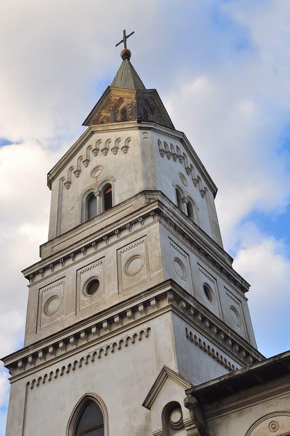Igreja católica da torre fotos de stock