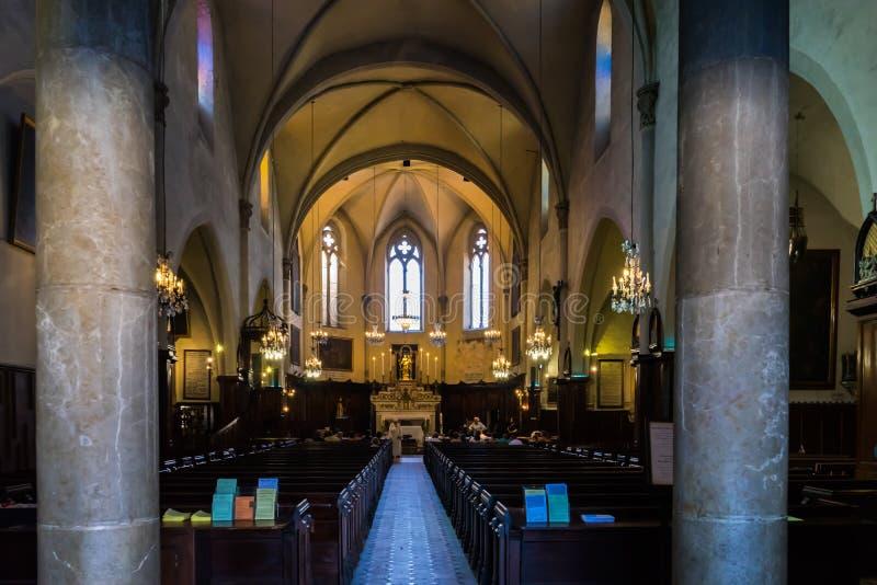Igreja Católica de Cannes imagens de stock royalty free