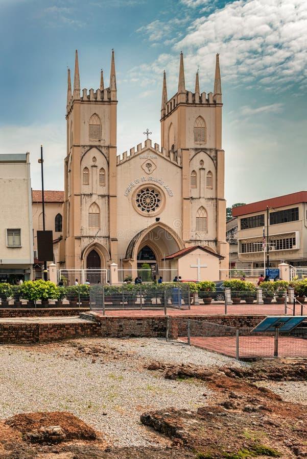 Igreja Católica de St Francis Xavier, destinati popular do turismo imagem de stock