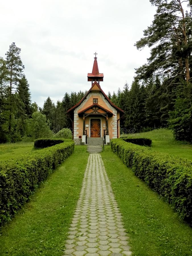 A igreja Católica de St Helena Poprad Slovakia imagens de stock