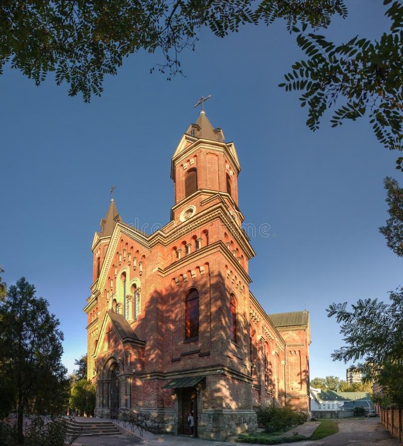 Igreja Católica de St Joseph em Nikolaev, Ucrânia fotos de stock