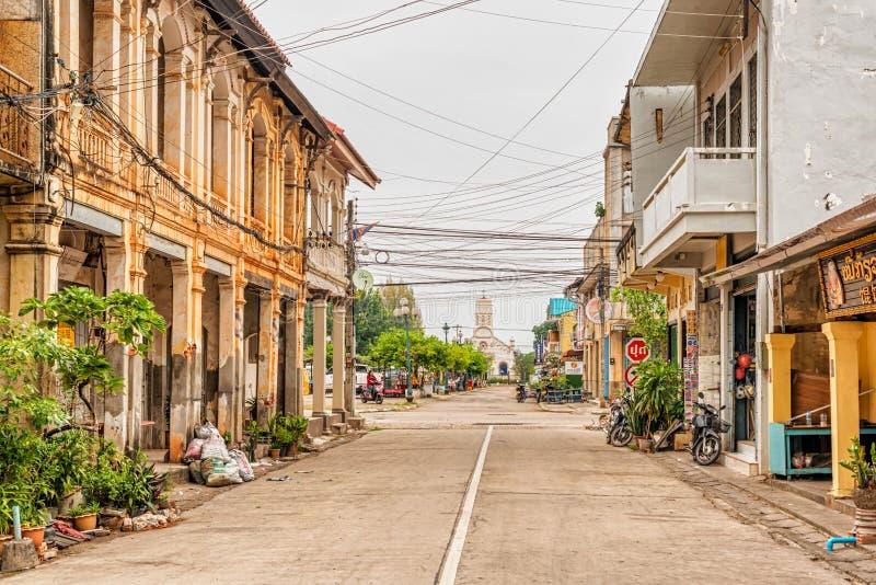 Igreja Católica do ` s de St Teresa em Savannakhet, Laos imagem de stock royalty free