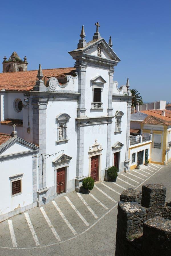 Igreja católica em Beja fotografia de stock royalty free