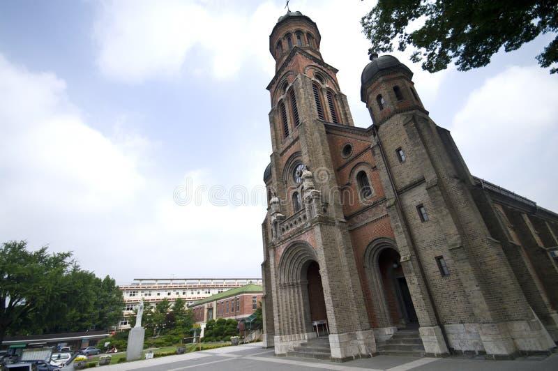 Igreja católica em Coreia do Sul imagens de stock royalty free