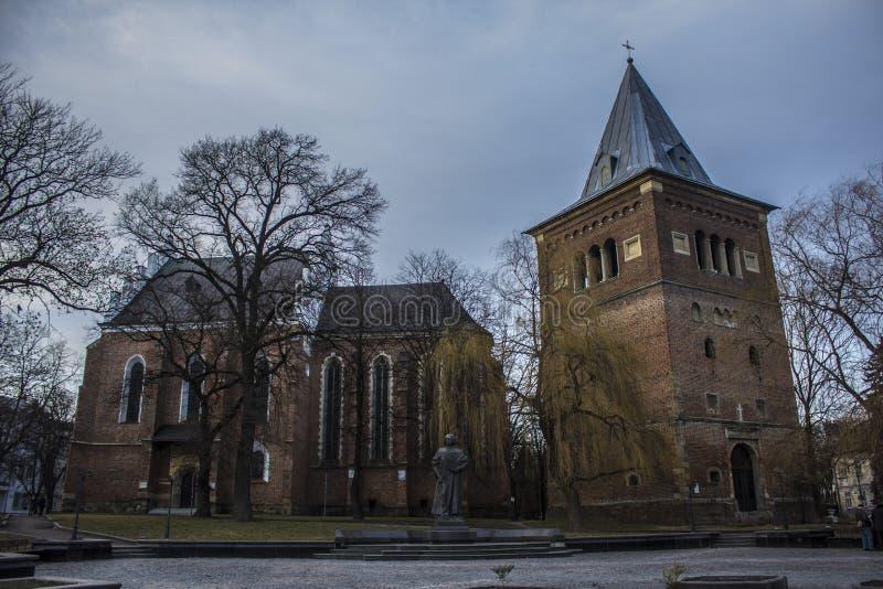 Igreja Católica em Drohobych, região foto2 de Lviv fotos de stock