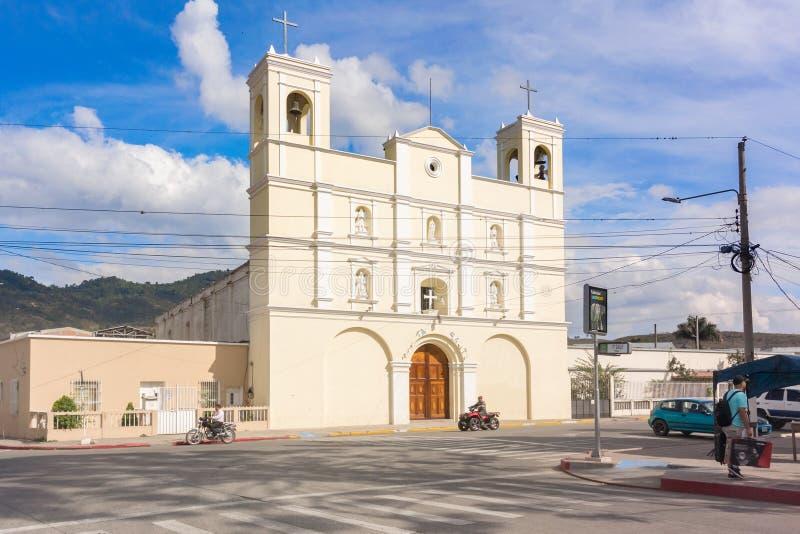 Igreja Católica em Jalapa, Guatemala fotografia de stock royalty free