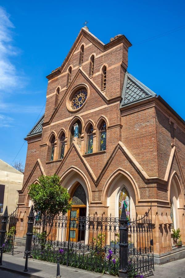 Igreja Católica em Tbilisi, religião cristã, Geórgia foto de stock royalty free