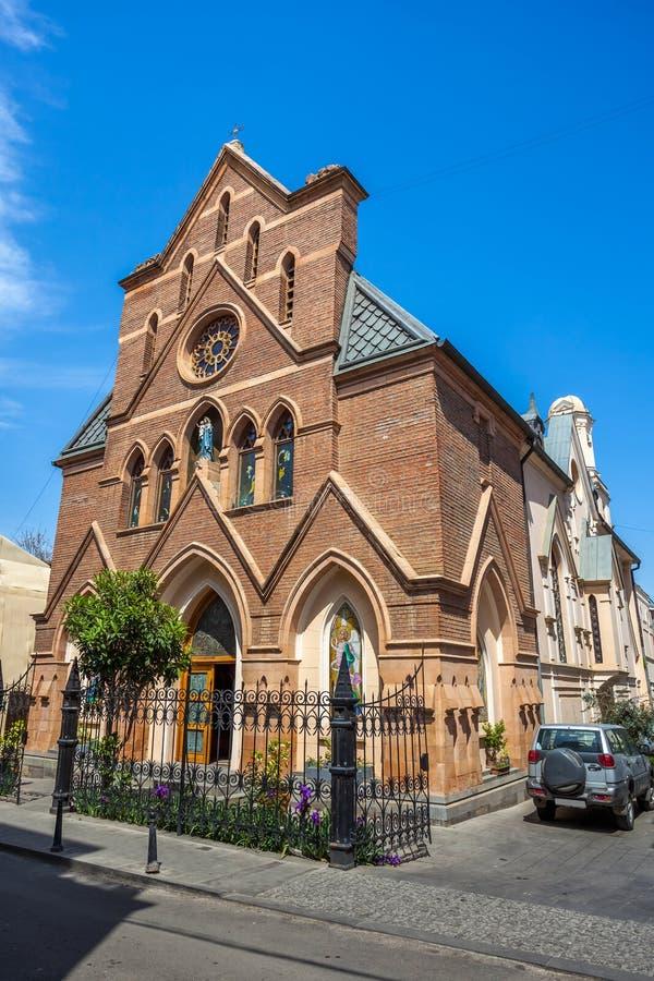 Igreja Católica em Tbilisi, religião cristã, Geórgia imagens de stock royalty free
