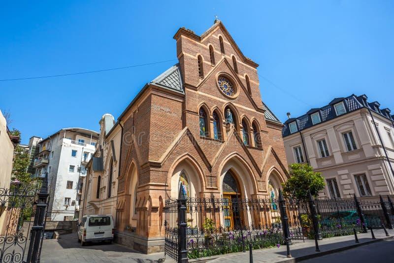 Igreja Católica em Tbilisi, religião cristã, Geórgia fotografia de stock