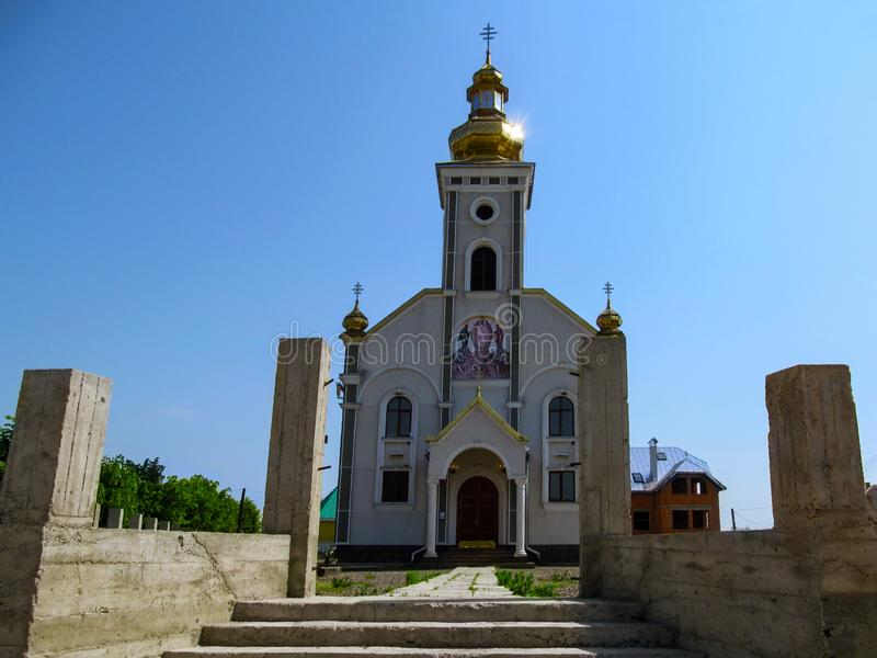 Igreja Católica grega da transfiguração do senhor em Khust o templo novo do senhor imagem de stock