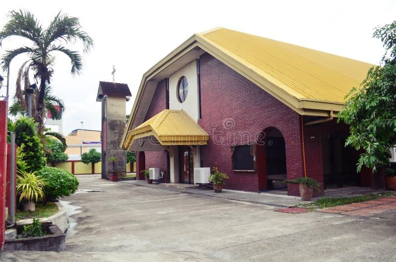 Igreja Católica moderna em São Fernando, Filipinas fotografia de stock royalty free