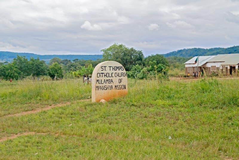 Igreja Católica na Zâmbia fotografia de stock