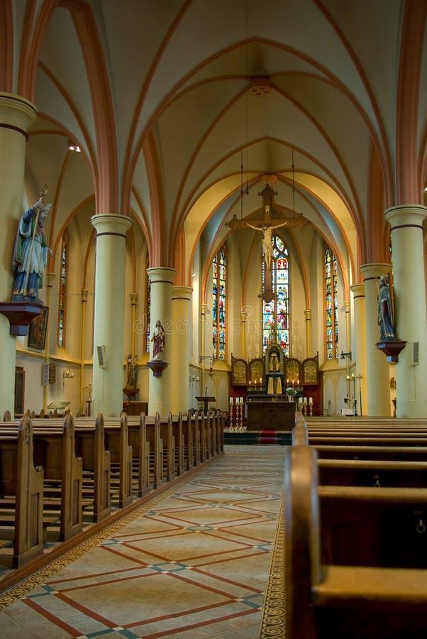 A igreja católica romana na Holanda de Gendringen fotos de stock