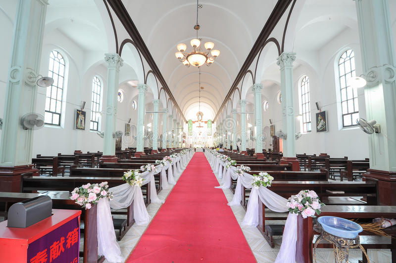 A igreja Católica Salão imagem de stock royalty free