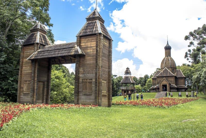 Igreja Católica ucraniana no parque imagens de stock