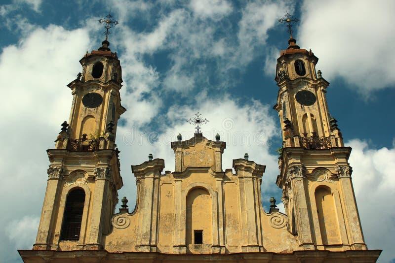 Igreja Católica velha da ascensão em Vilnius, Lituânia imagem de stock royalty free