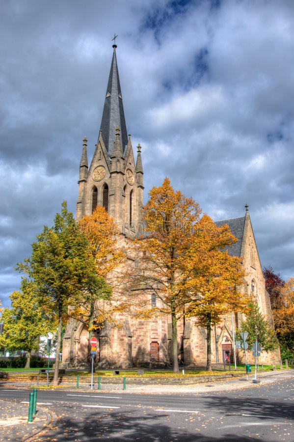 Igreja Católica velha, Fulda, Hessen, Alemanha imagem de stock royalty free