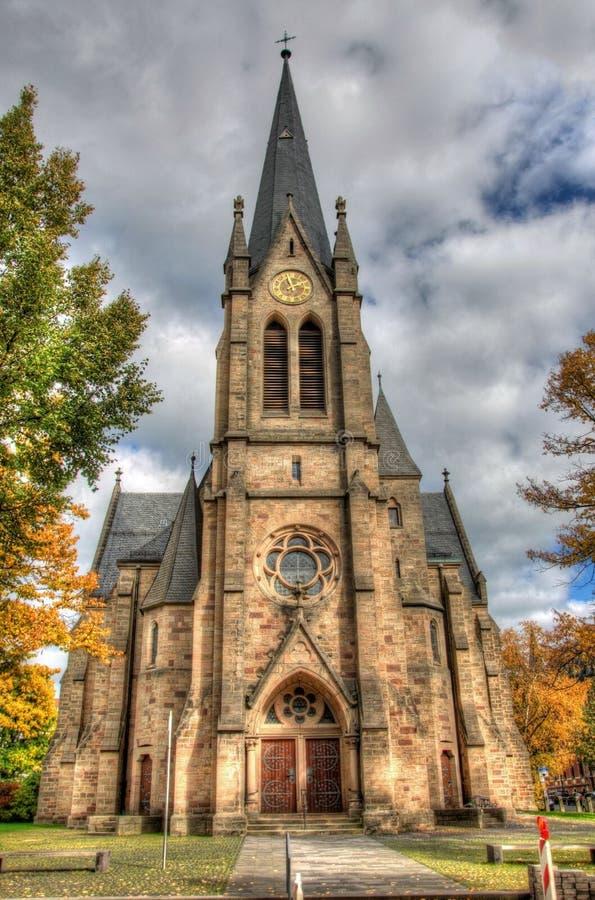 Igreja Católica velha, Fulda, Hessen, Alemanha fotografia de stock royalty free