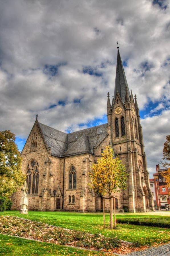 Igreja Católica velha, Fulda, Hessen, Alemanha fotografia de stock