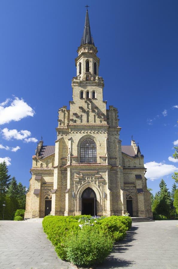 Igreja católica, Vilnius, Lithuania imagens de stock