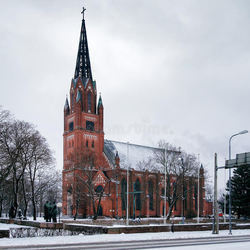 Igreja central de Pori, Finlandia imagem de stock royalty free