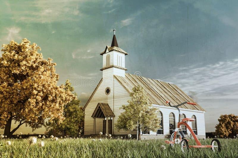 Igreja colonial ilustração stock