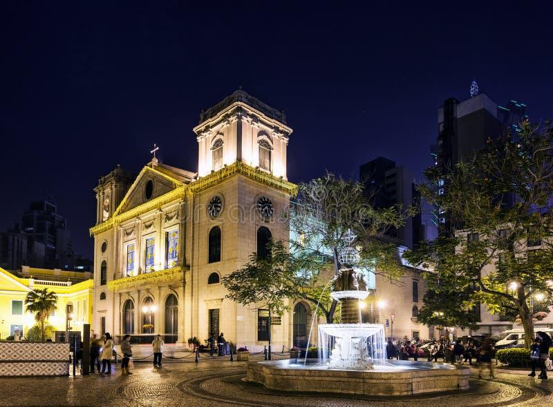 Igreja colonial da cidade velha portuguesa na porcelana central de macao macau fotos de stock