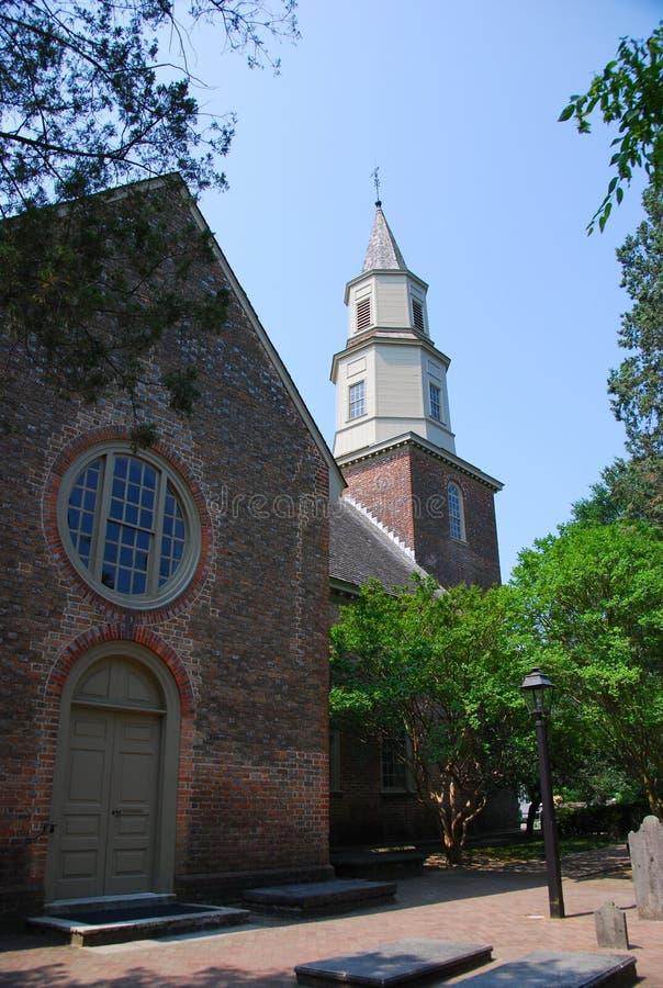 Igreja colonial de Williamsburg fotos de stock royalty free