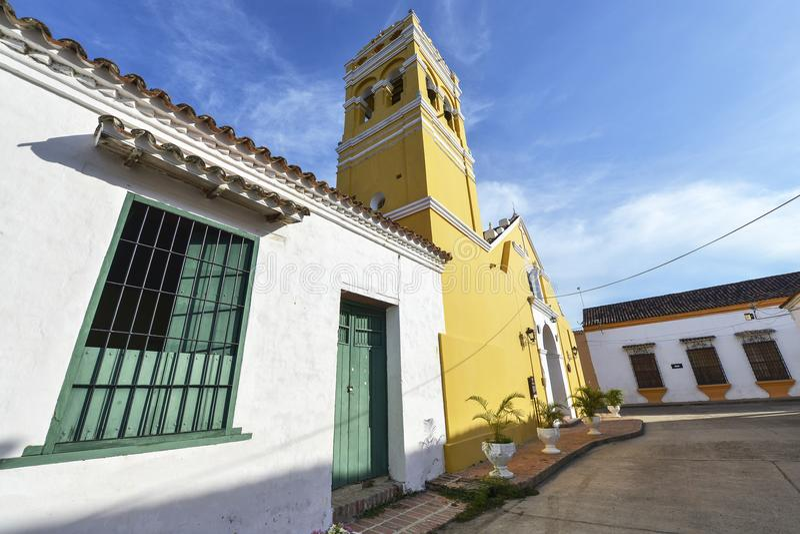 Igreja colonial em Mompox, Colômbia imagem de stock royalty free