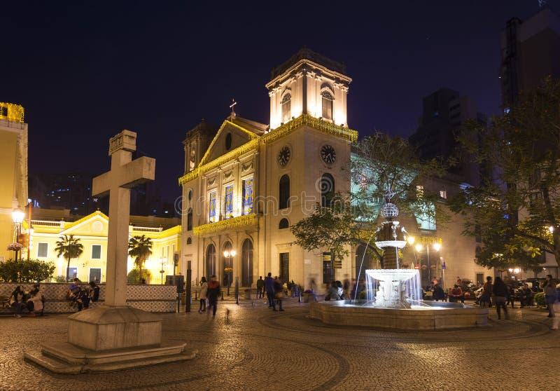 Igreja colonial portuguesa velha na porcelana de macau macao fotografia de stock