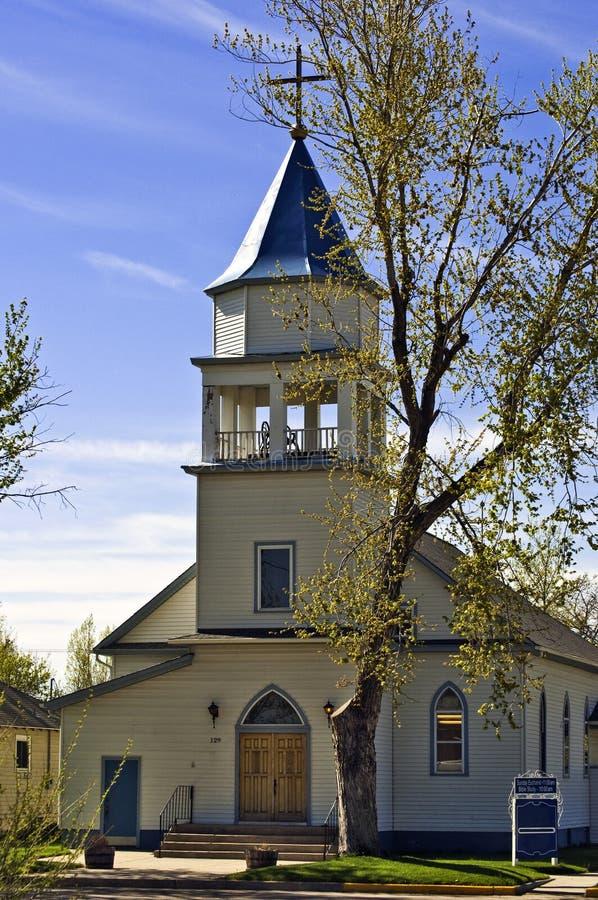 Igreja com steeple fotografia de stock royalty free