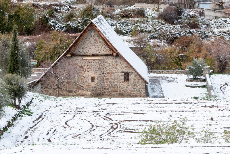 Igreja cristã ortodoxo antiga de Panagia Podithou Chipre fotos de stock