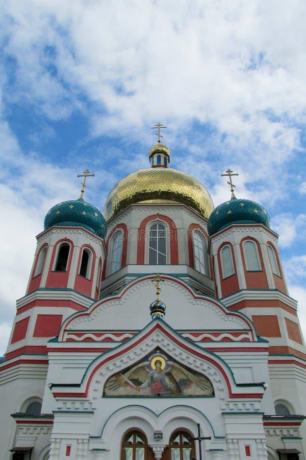 Igreja cristã ortodoxo em Uzhorod, Ucrânia imagem de stock
