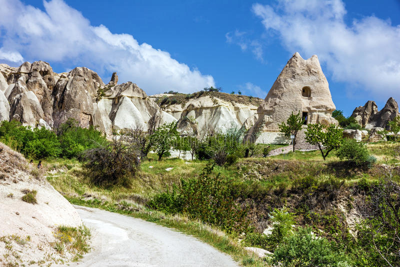 Igreja cristã velha de Saint Nazar em Goreme, Cappadocia, Turke fotografia de stock royalty free